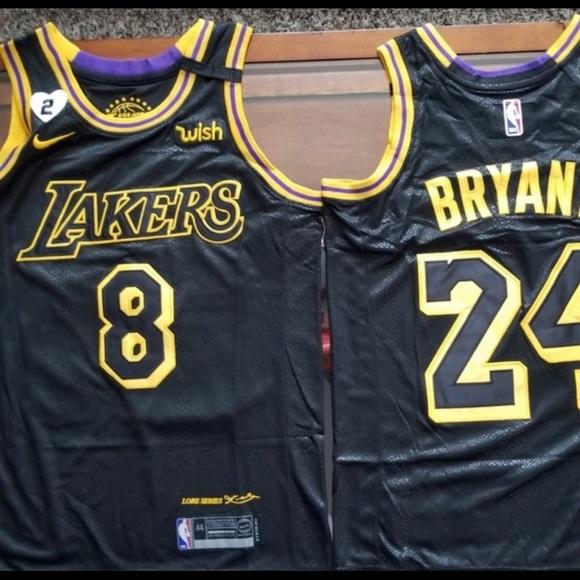 Lakers Black Mamba Kobe 8/24 and Gigi 2 Jersey